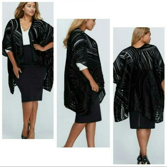 Lane Bryant Jackets & Blazers - Burnout Kimono / Overpiece - ONE SIZE PLUS